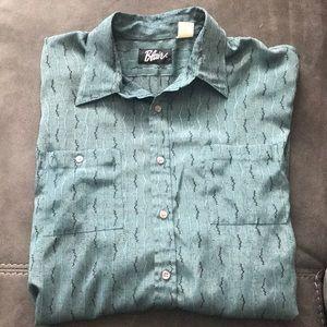 Vintage Men's long sleeve button up shirt